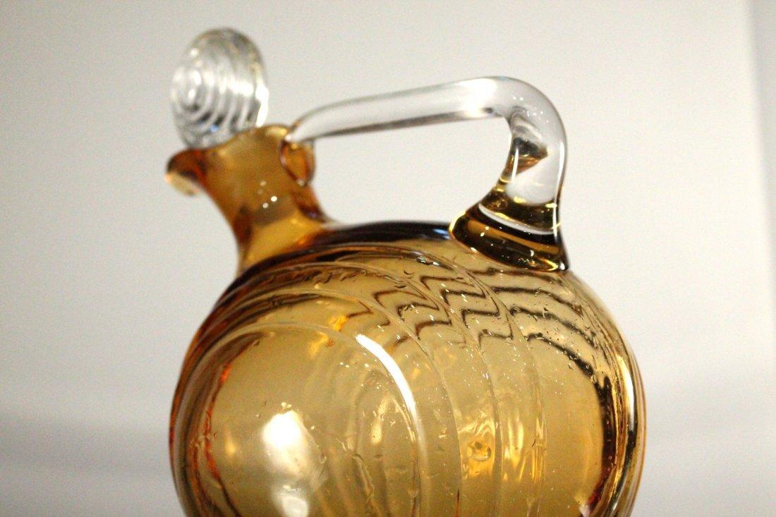 AMBER CAMBRIDGE GLASS DECANTER - Art Deco Style - 4