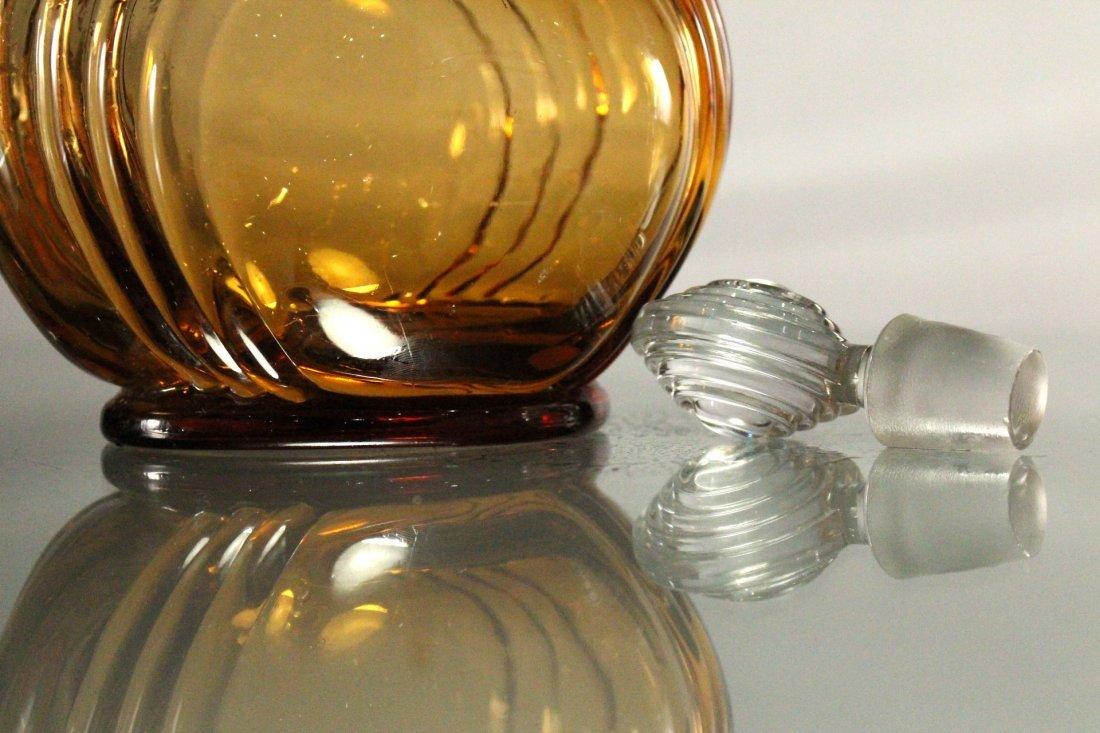 AMBER CAMBRIDGE GLASS DECANTER - Art Deco Style - 5