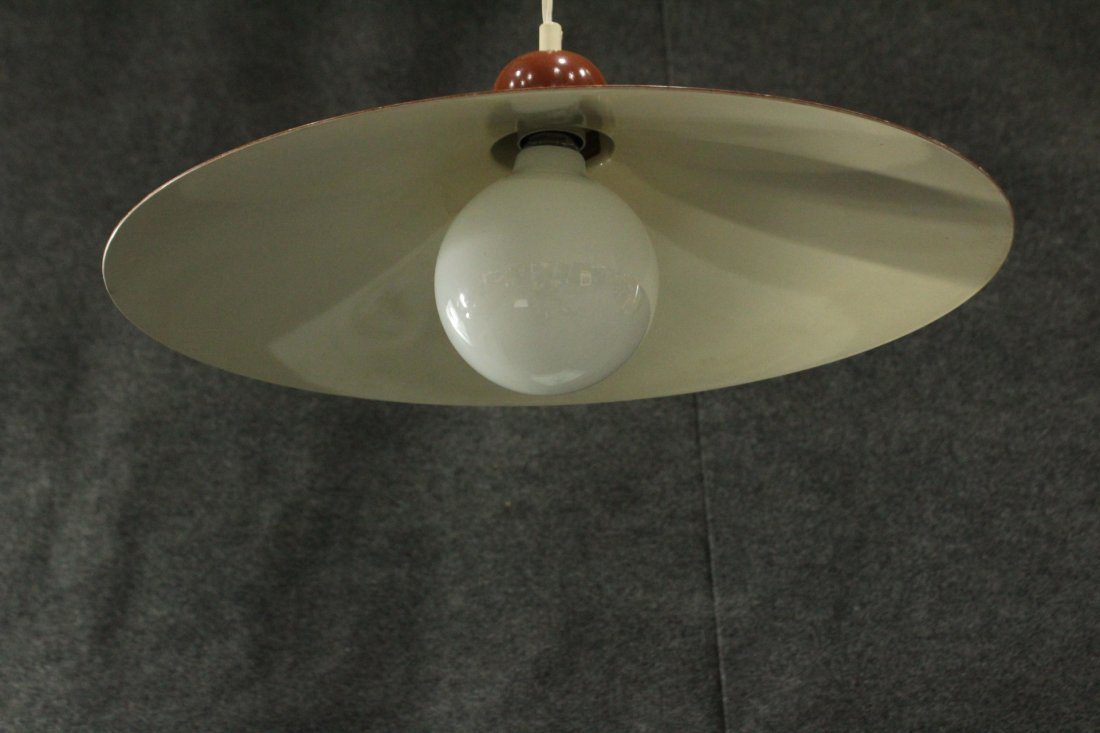 LUMIERE FRANCE Mid-Century Modern DOUBLE HANGING LIGHT - 6