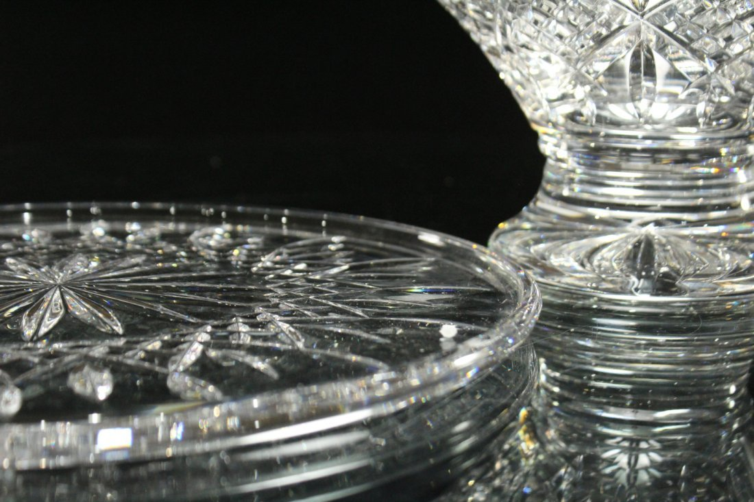 TWO [2] Pieces WATERFORD Crystal Bowl, Serving Plate - 10