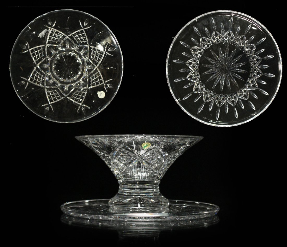 TWO [2] Pieces WATERFORD Crystal Bowl, Serving Plate