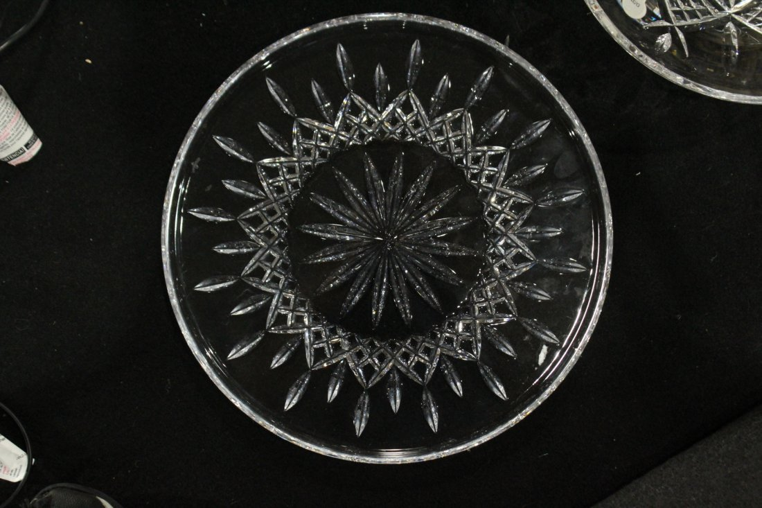 TWO [2] Pieces WATERFORD Crystal Bowl, Serving Plate - 3