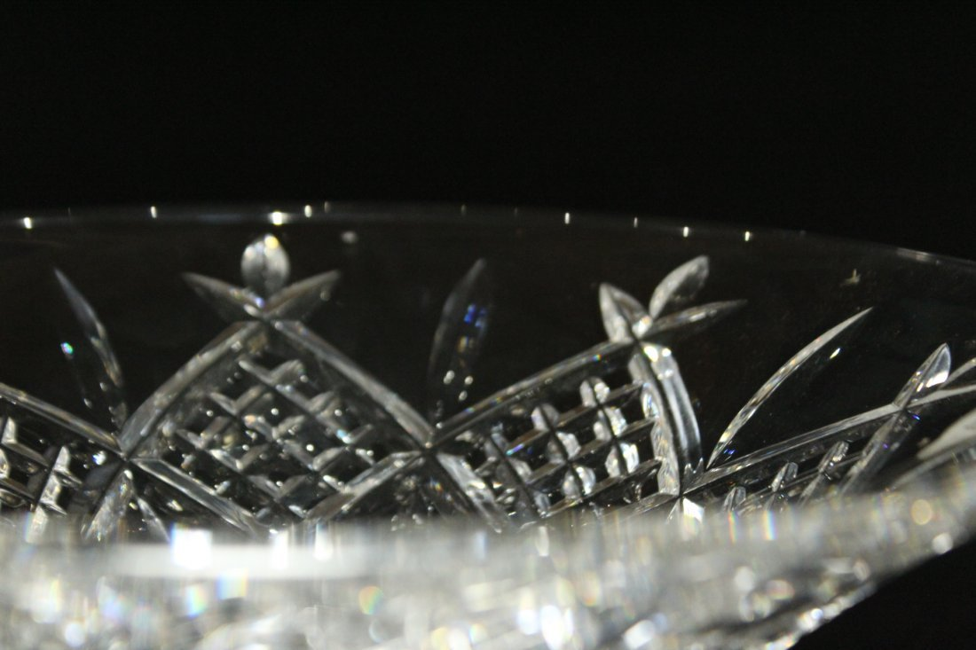 TWO [2] Pieces WATERFORD Crystal Bowl, Serving Plate - 9