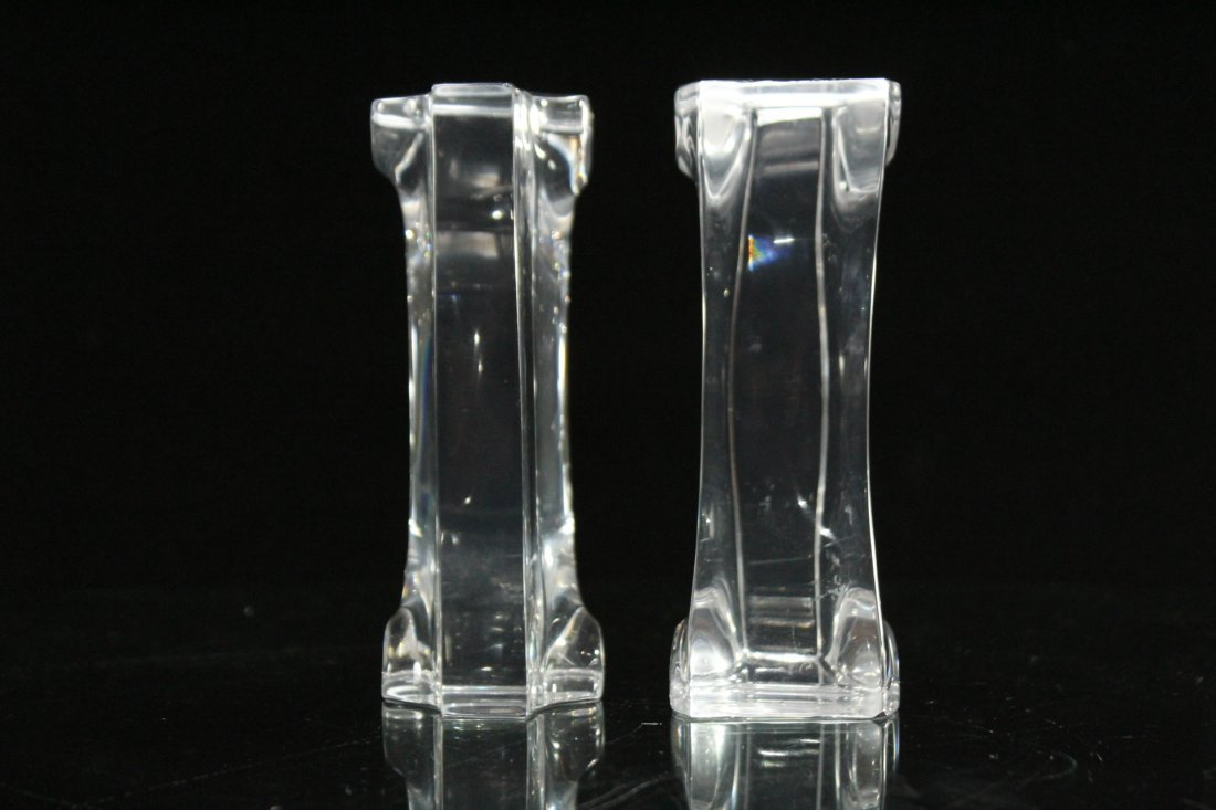 Pair Mid-Century Modern Clear LUCITE BOOKENDS - 2