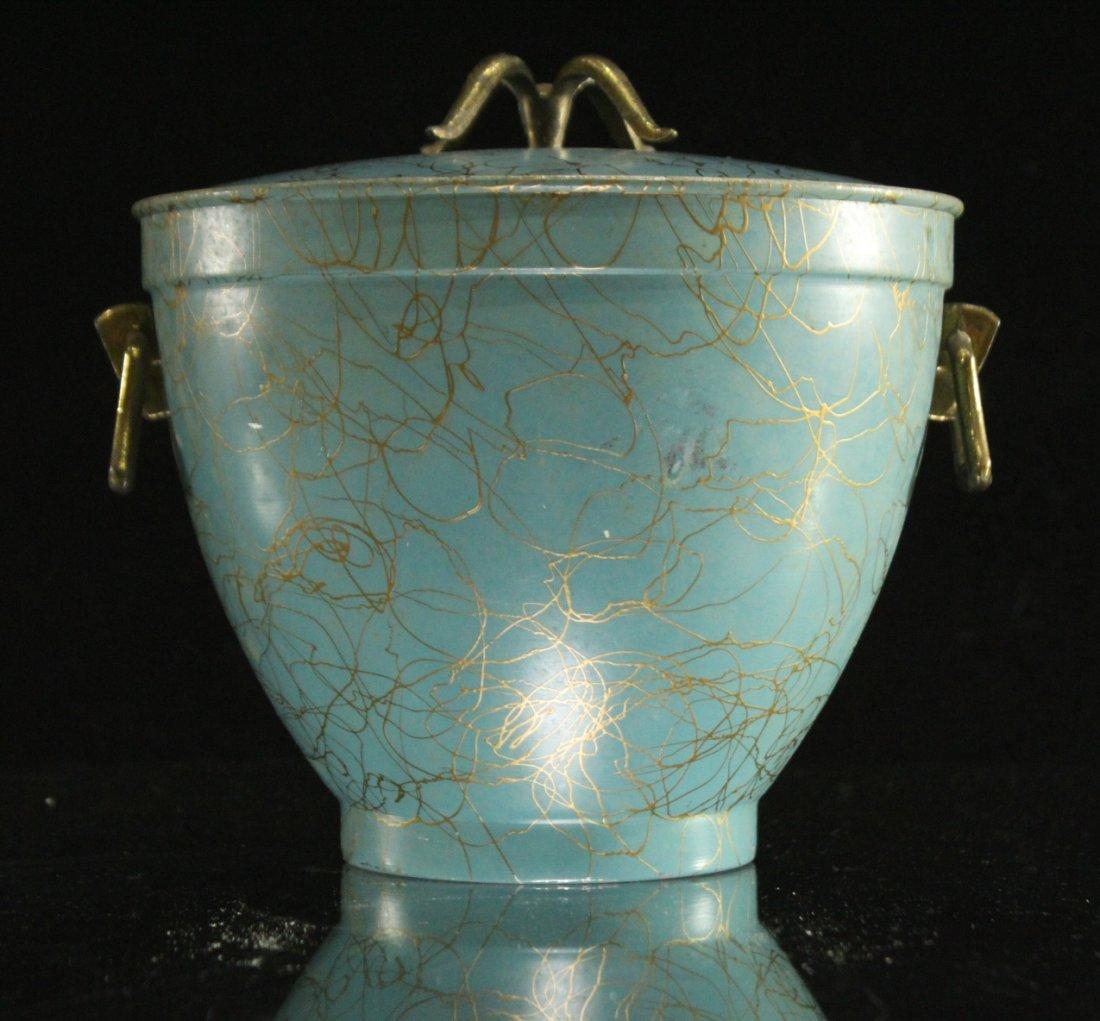 EAMES ERA Mid-Century Porcelain Lined ICE BUCKET