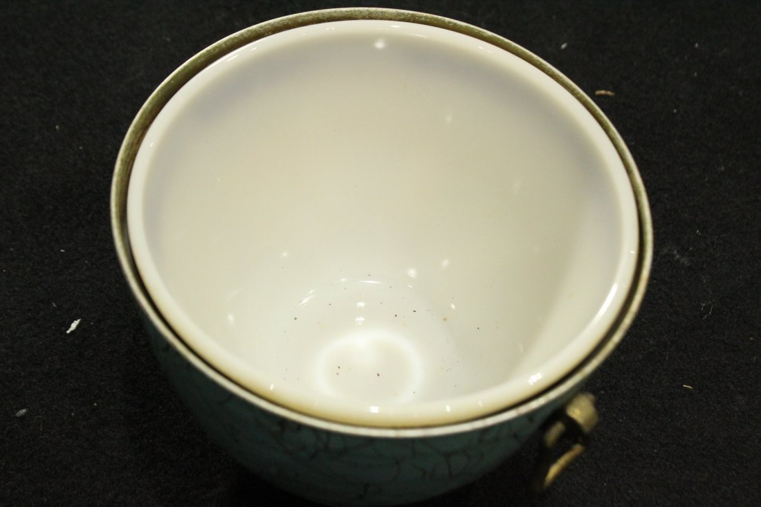 EAMES ERA Mid-Century Porcelain Lined ICE BUCKET - 4