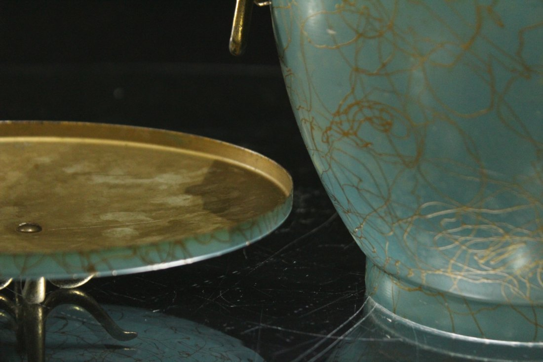 EAMES ERA Mid-Century Porcelain Lined ICE BUCKET - 5