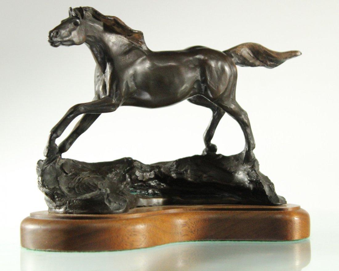 VERYL GOODNIGHT (American b.1947] BRONZE HORSE Signed - 2