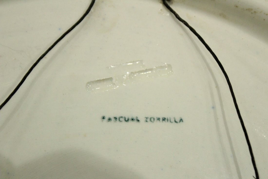 Two [2] PASCUAL ZORILLA Decorated Ceramic CHARGERS - 3