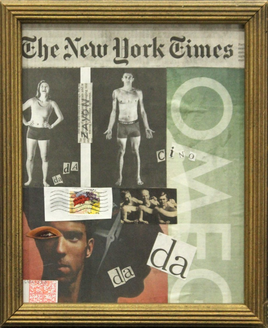 SEYMOUR ZAYON Mid-Century NEW YORK TIMES COLLAGE