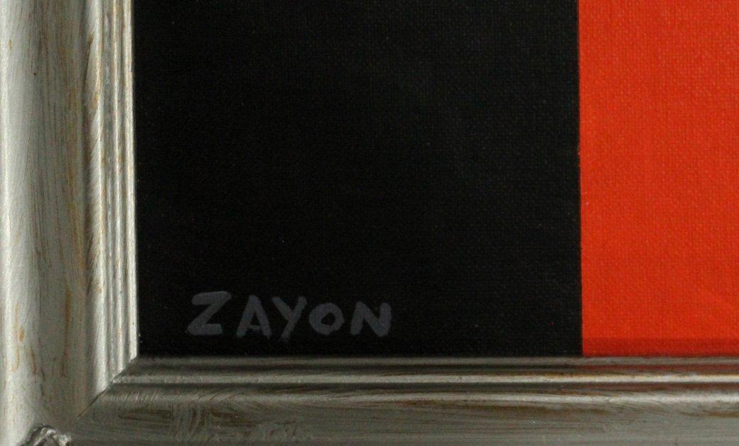 SEYMOUR ZAYON Mid Century Modern GEOMETRIC ABSTRACT - 2