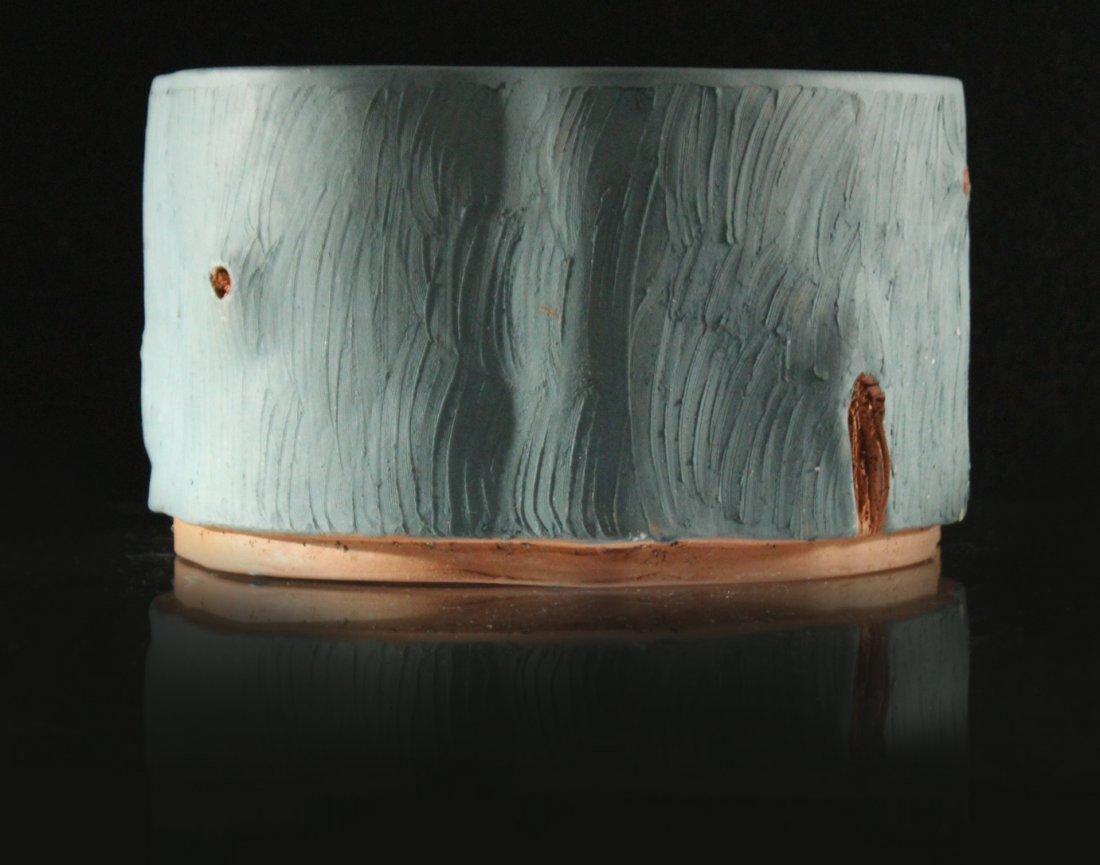 Unusual Terra Cotta TREE TRUNK DESIGN PLANTER