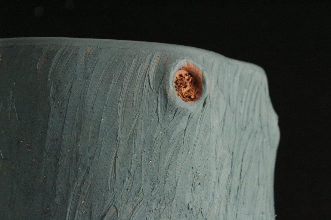 Unusual Terra Cotta TREE TRUNK DESIGN PLANTER - 3