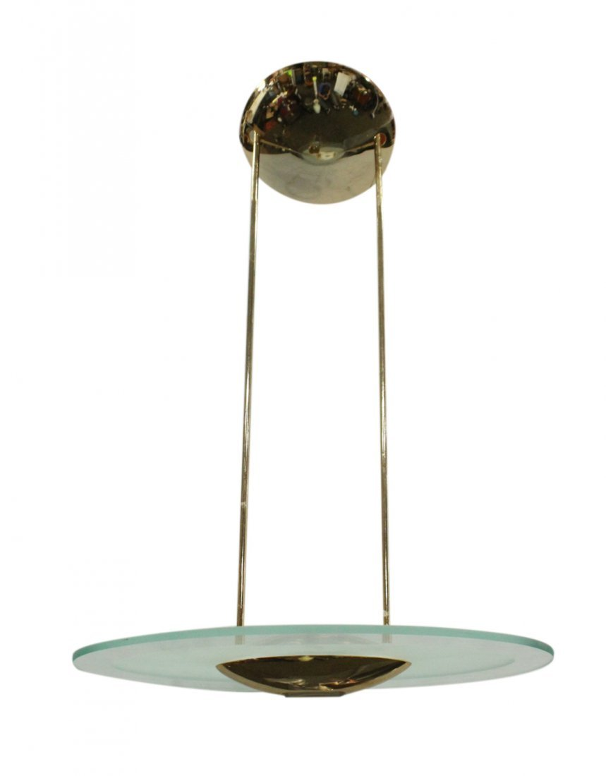 Mid-Century Design Space Age Saucer Hanging Fixture