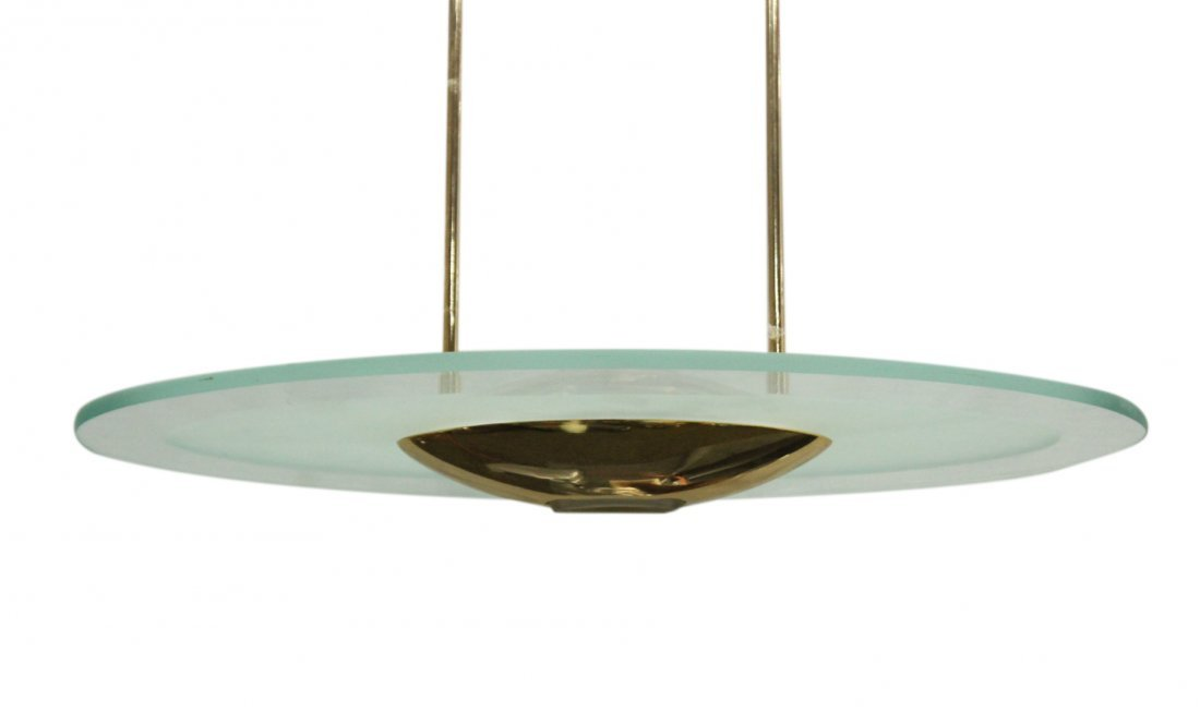 Mid-Century Design Space Age Saucer Hanging Fixture - 2