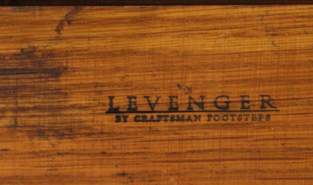 LEVENGER Arts& Crafts MISSION OAK TABLE LAMP MICA PANEL - 6