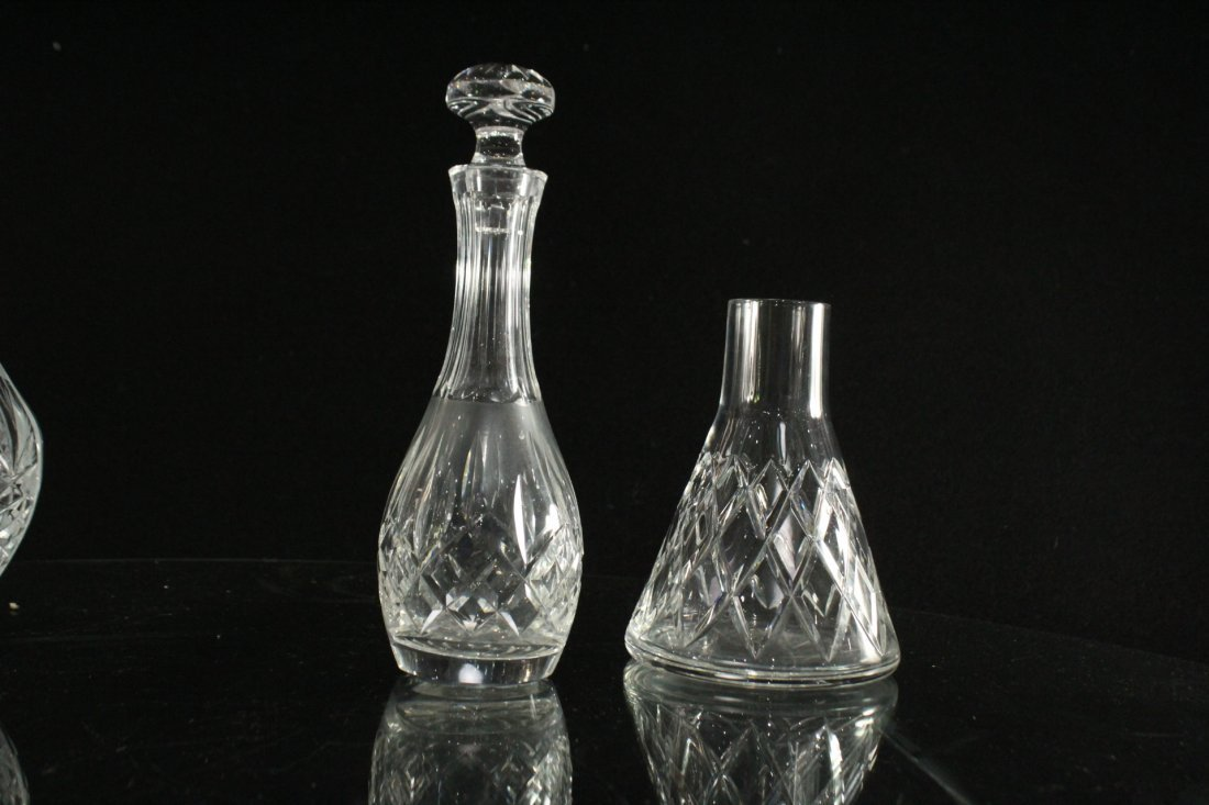 Six [6] Assorted CUT GLASS BOTTLES, DISH, DECANTERS - 5