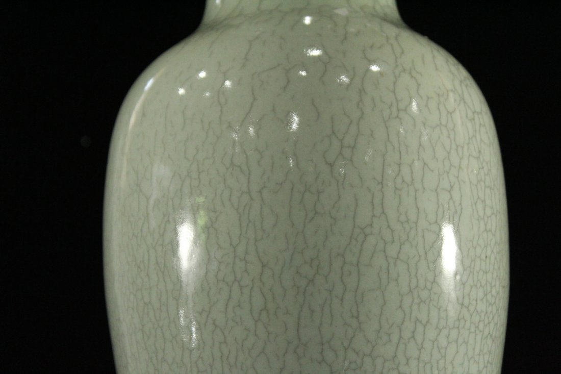 White Glaze CELEDON 18 Inch Tall Vase - 2