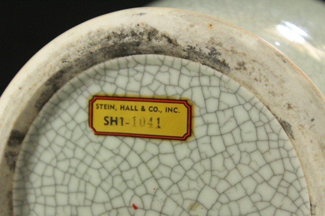 White Glaze CELEDON 18 Inch Tall Vase - 6