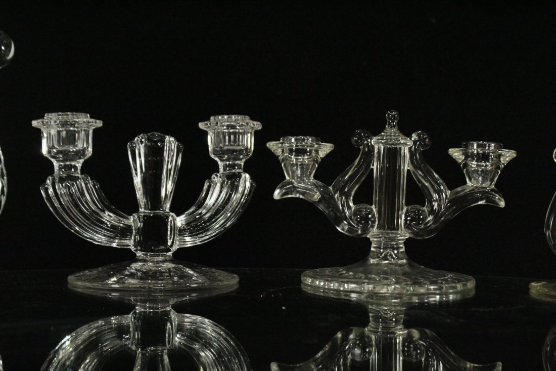 Eight [8] Assorted GLASS CRYSTAL CANDLESTICKS - 5