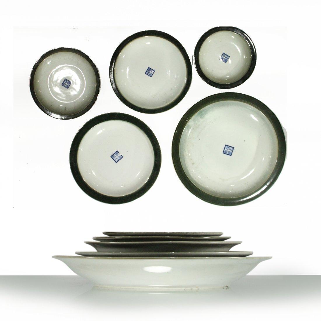 Five [5] Oriental Porcelain GRADUATED SIZE UNDERPLATES