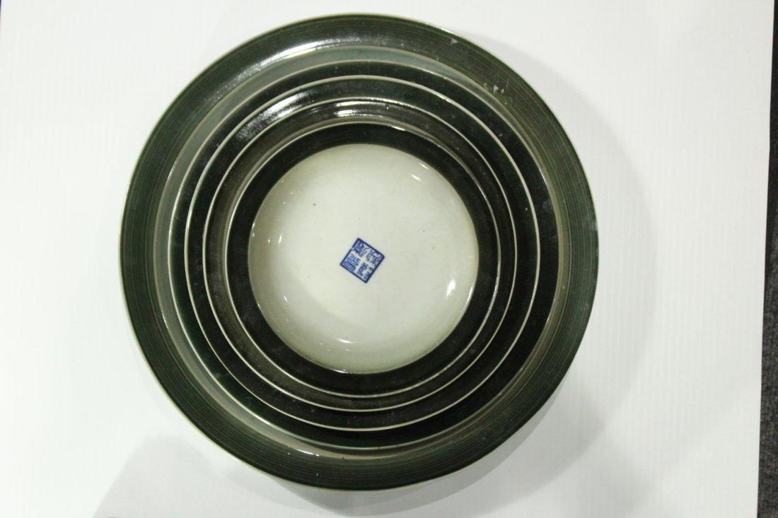 Five [5] Oriental Porcelain GRADUATED SIZE UNDERPLATES - 2