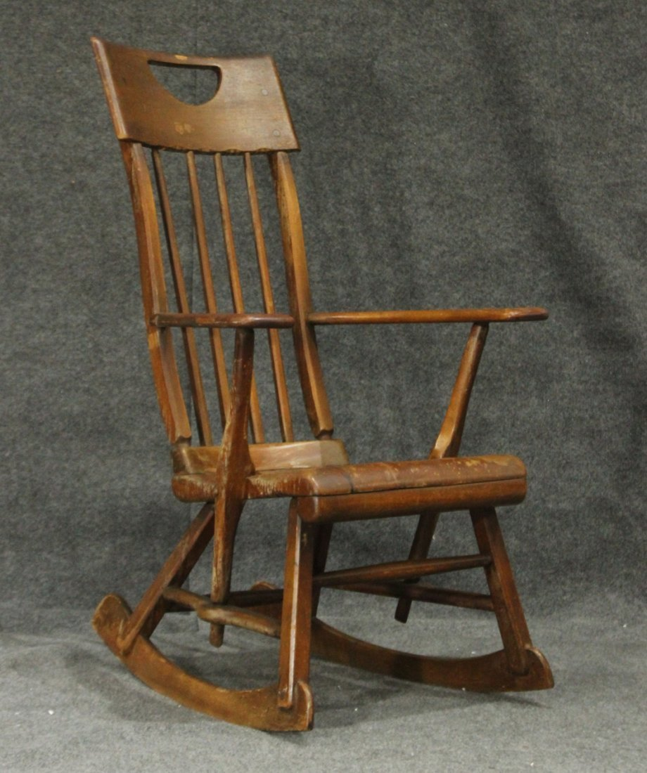 SYKES Mid Century Modern MAPLE HIGH BACK ROCKER