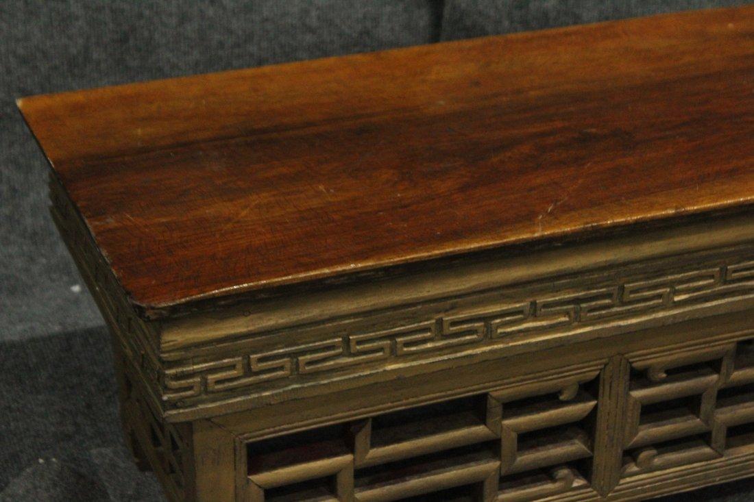 Oriental TEAK FOLDING TRAVELING ALTAR STAND - 3