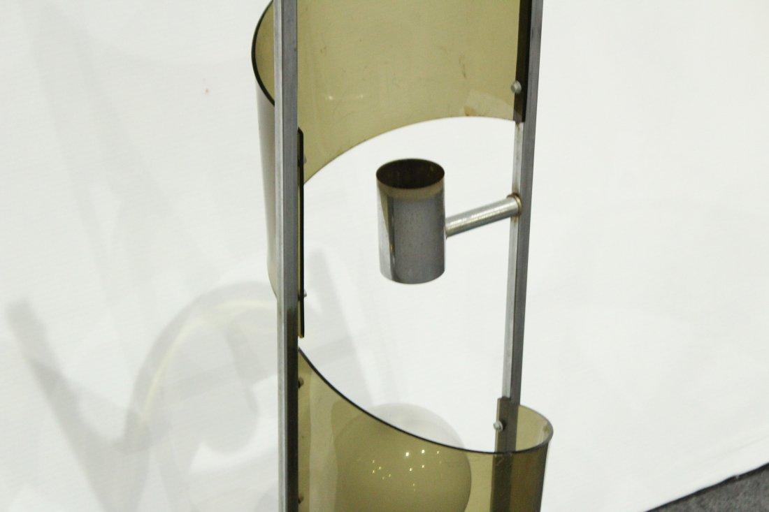 Mid-Century Modern SMOKED LUCITE 3-Light TWIST LAMP - 2