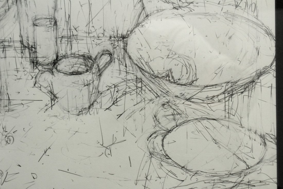 20th C. PENCIL DRAWING TABLE TOP STILL LIFE - 2