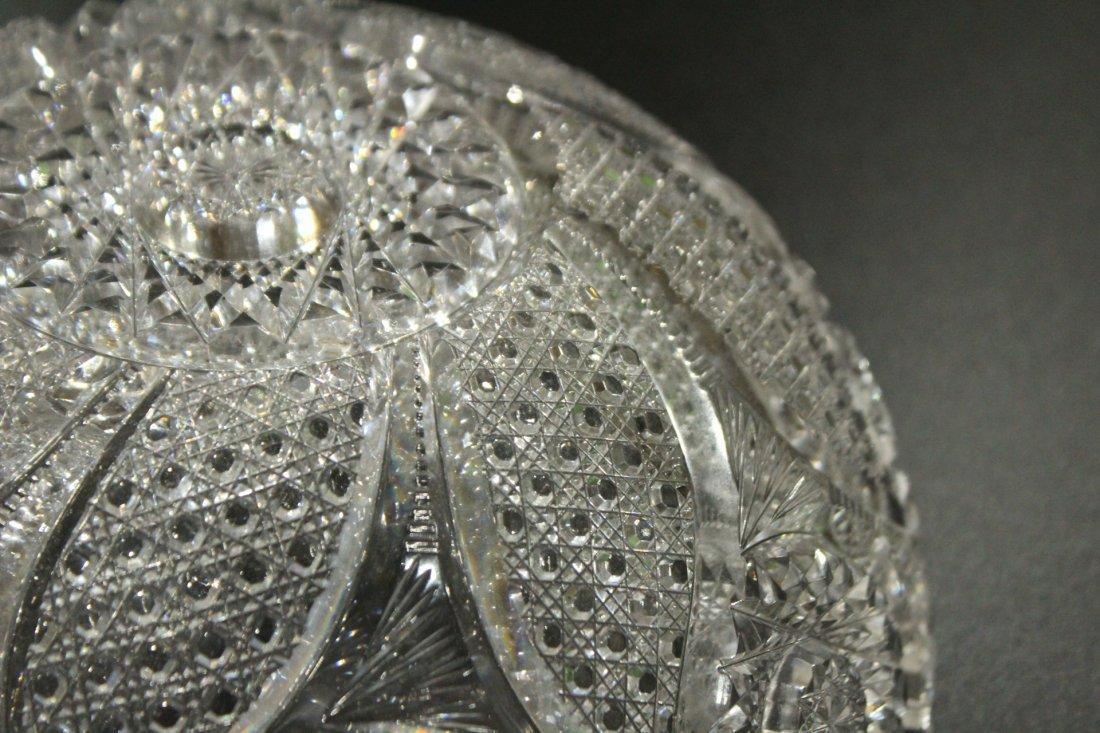 AMERICAN BRILLIANT CUT GLASS BOWL - Great Pattern - 10