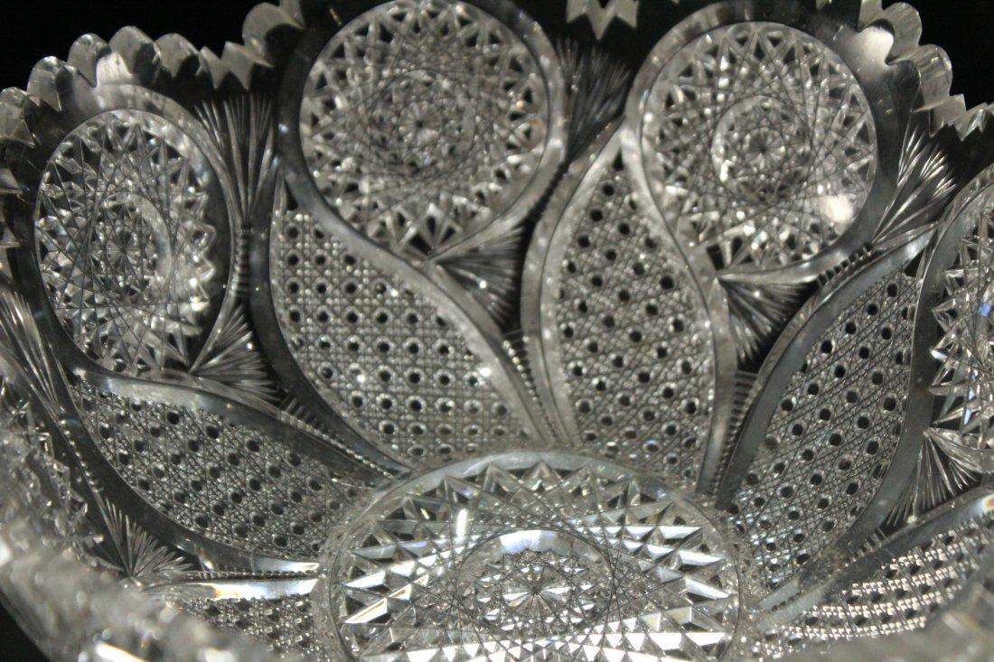 AMERICAN BRILLIANT CUT GLASS BOWL - Great Pattern - 4