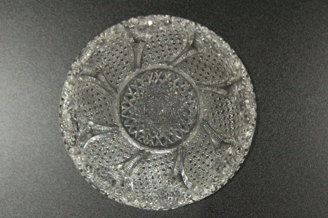 AMERICAN BRILLIANT CUT GLASS BOWL - Great Pattern - 8