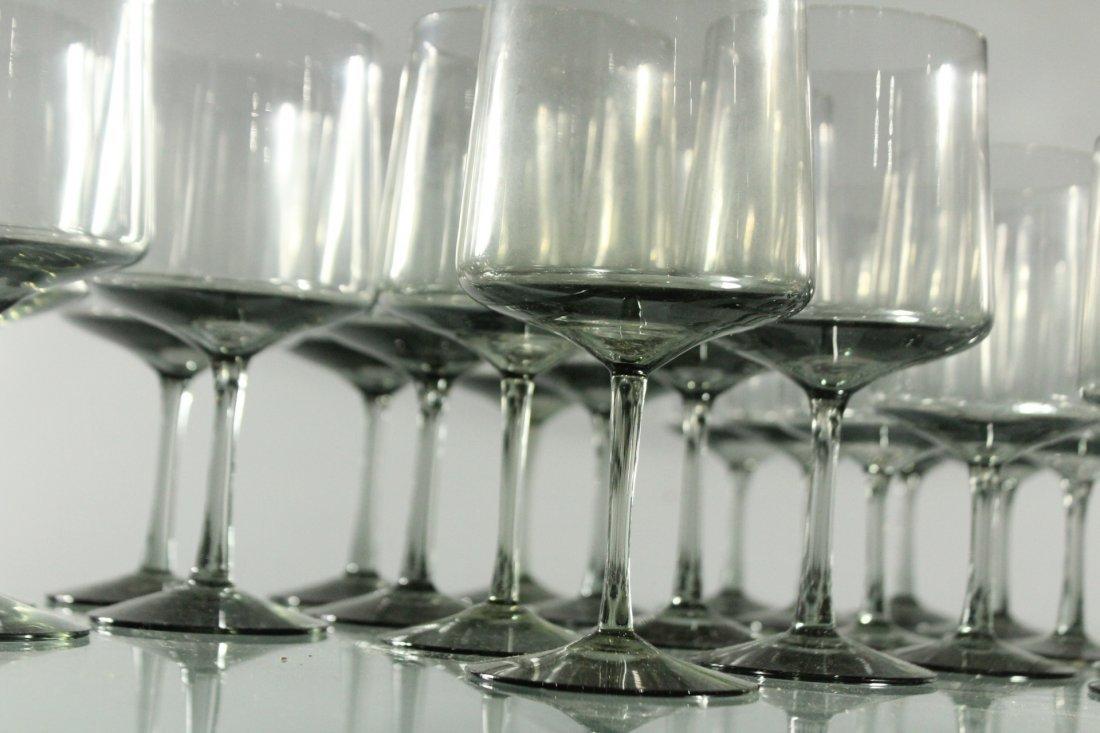 Forty Three [43] SWEDISH SMOKE GLASS STEMWARE Graduated - 3
