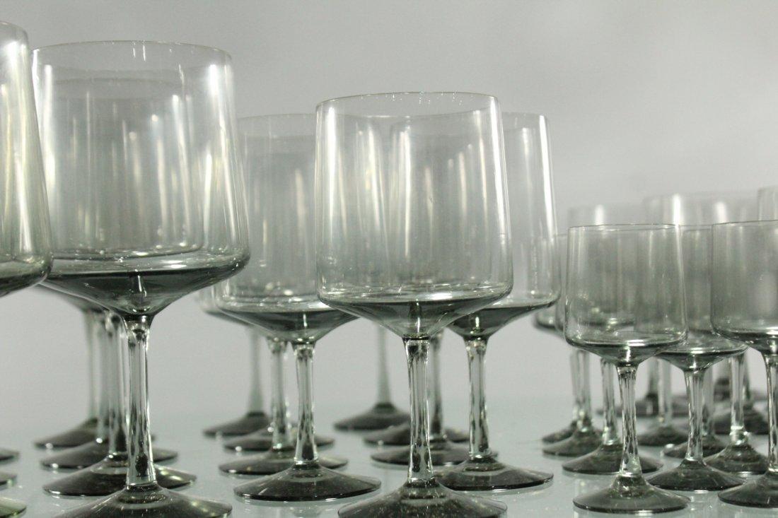 Forty Three [43] SWEDISH SMOKE GLASS STEMWARE Graduated - 4