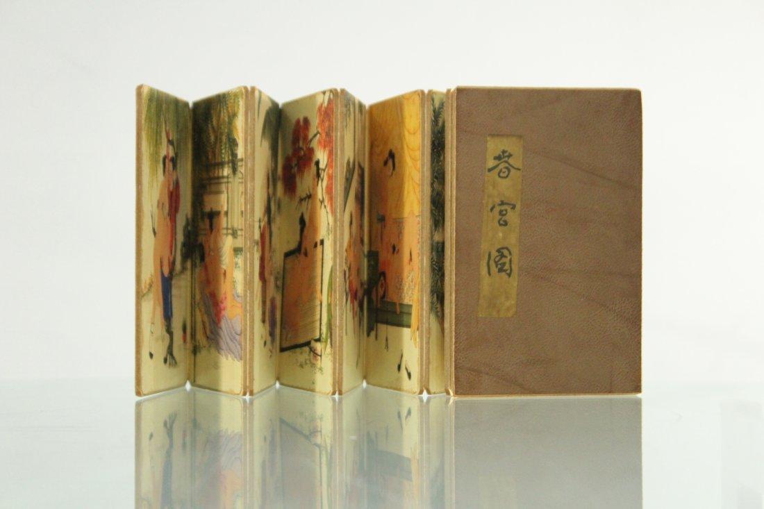 ORIENTAL EROTICA SCENES BI-FOLD BOOK SCROLL