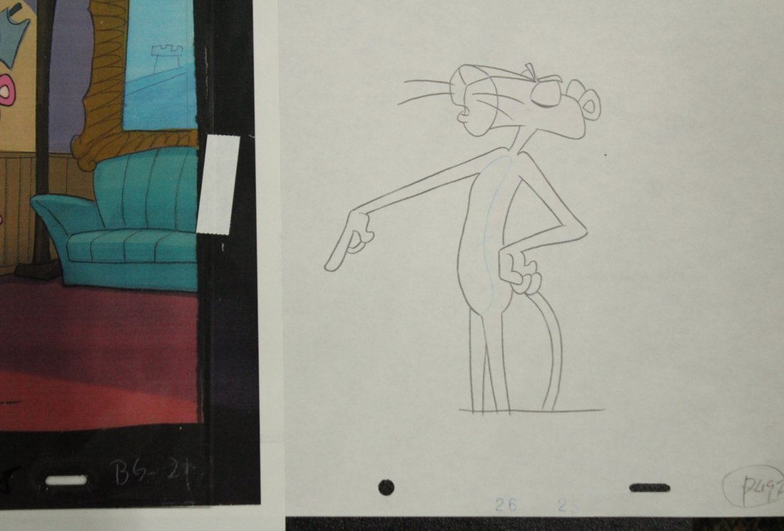 Assorted PINK PANTHER Animation Cels - 4