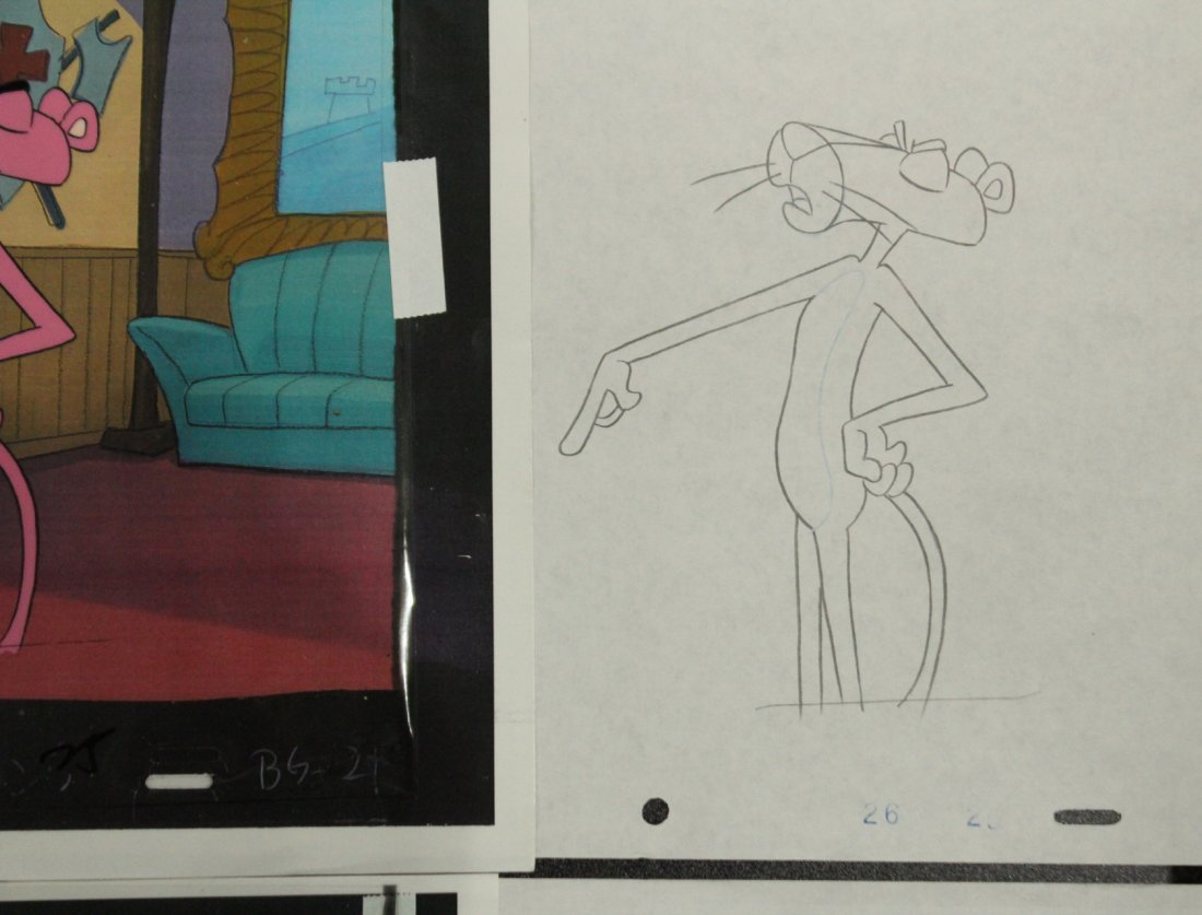 Assorted PINK PANTHER Animation Cels - 5