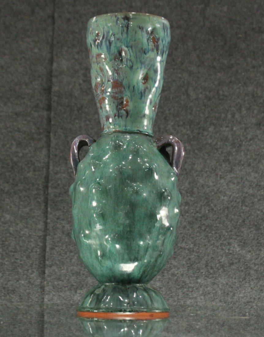 Flynn Mid-century modern handled pottery vase - 2
