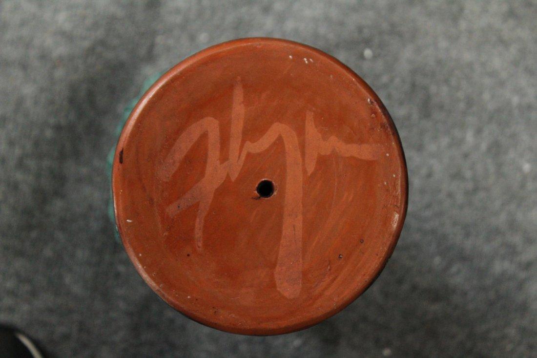 Flynn Mid-century modern handled pottery vase - 9