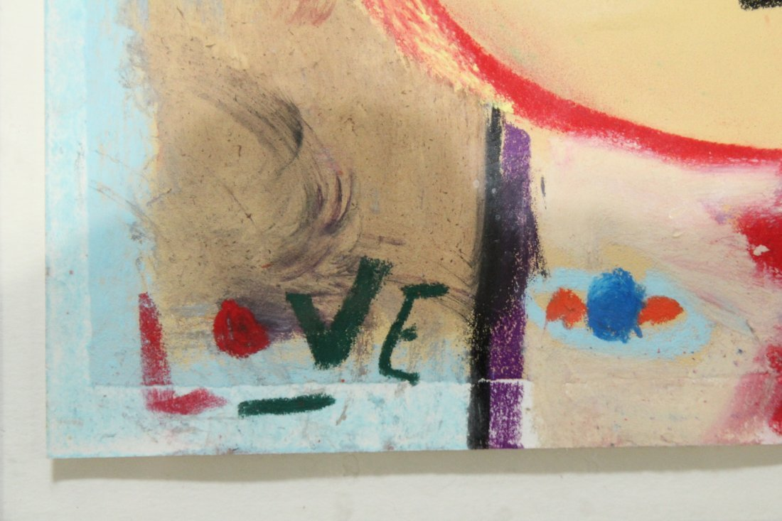 Modern Abstract drawing Woodstock artist LOVE - 2