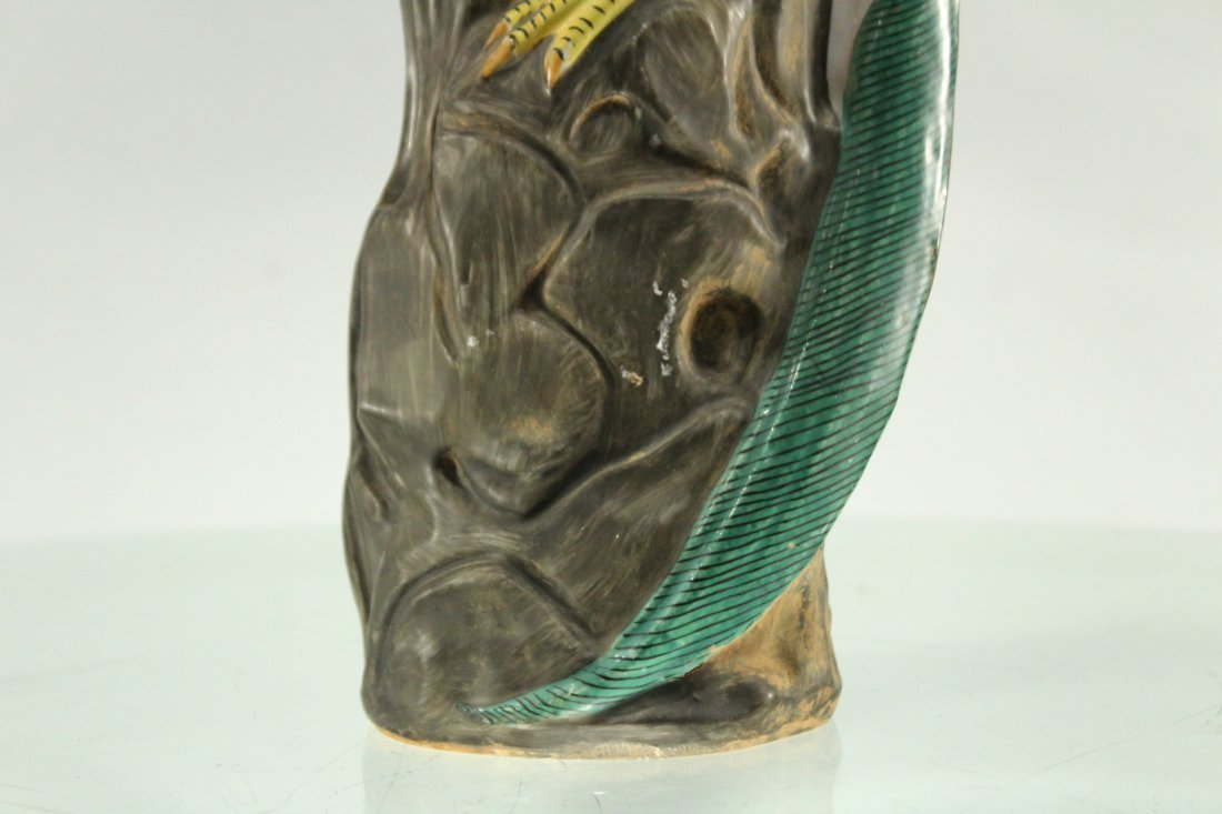 Vintage ceramic bird on rock - 2