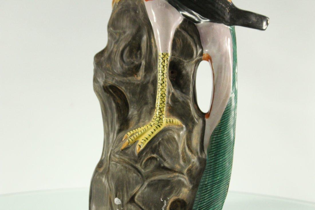 Vintage ceramic bird on rock - 3