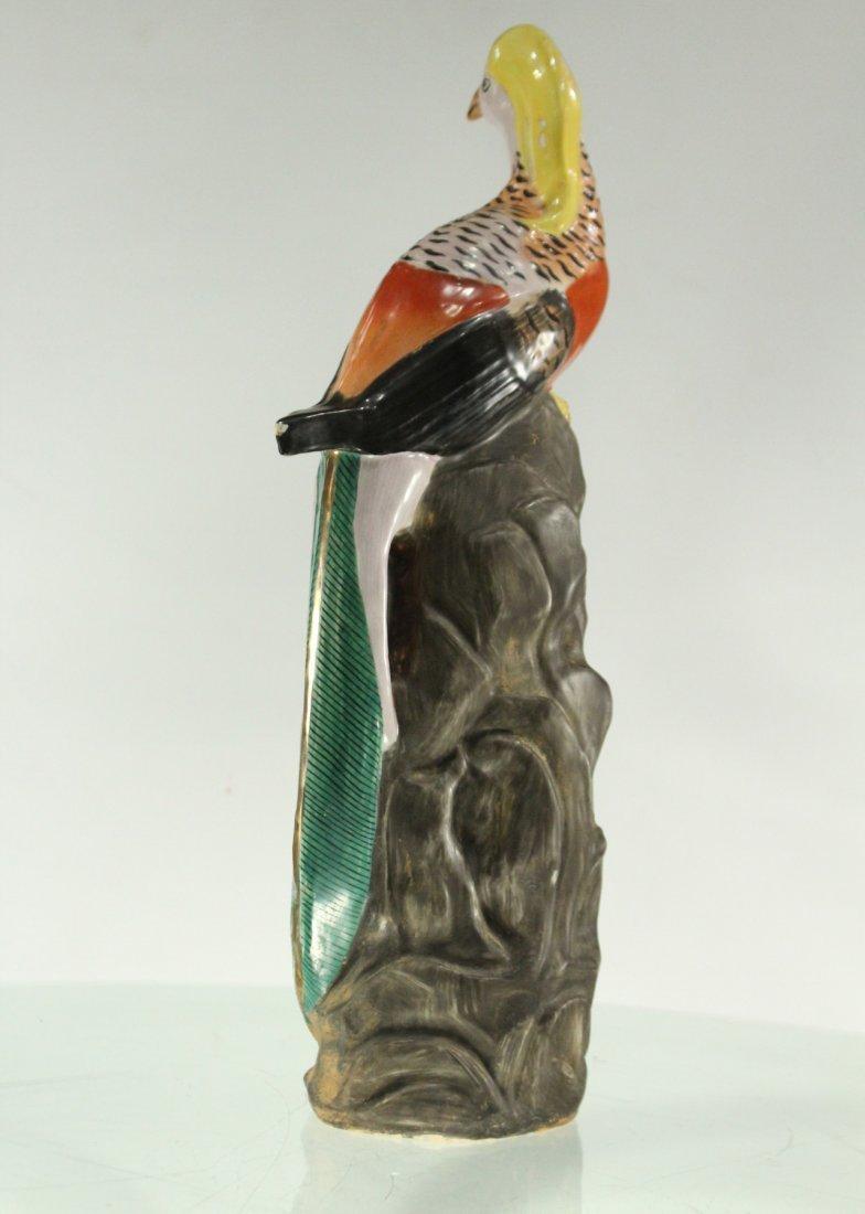 Vintage ceramic bird on rock - 7