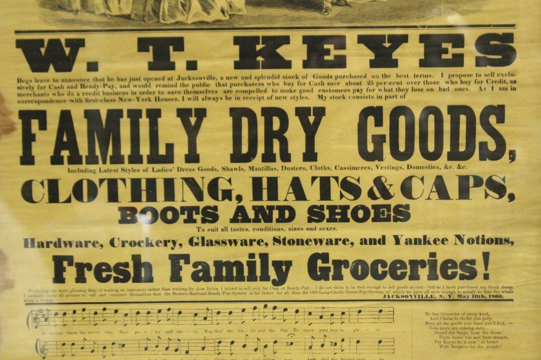 1860 Cheap Cash Store antique W T KEYES - 3