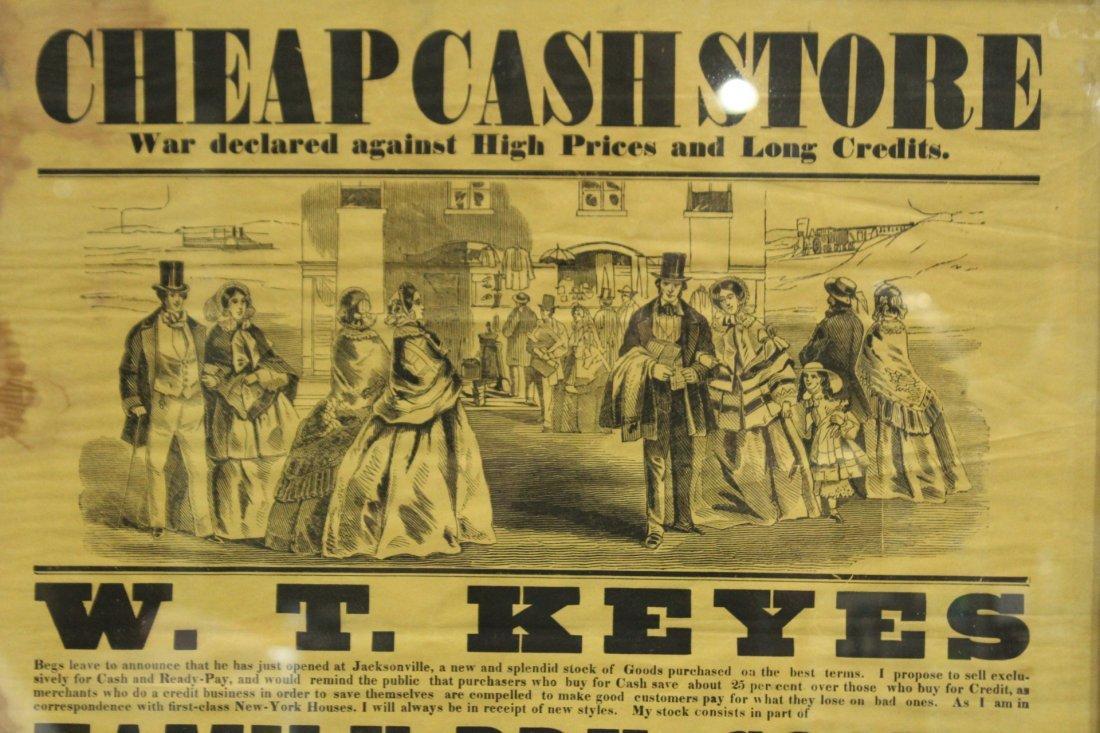 1860 Cheap Cash Store antique W T KEYES - 4
