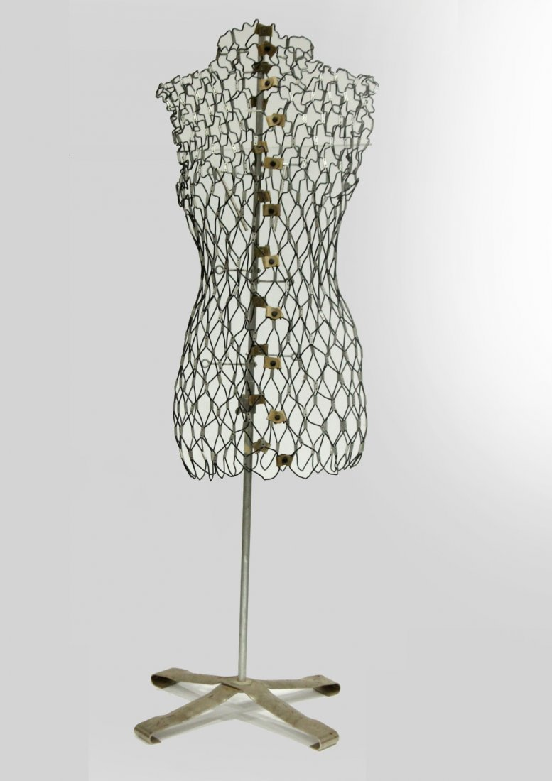 vintage female wire frame mannequin