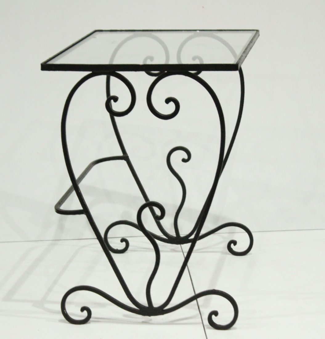 Wrought iron graduated nesting tables - 5