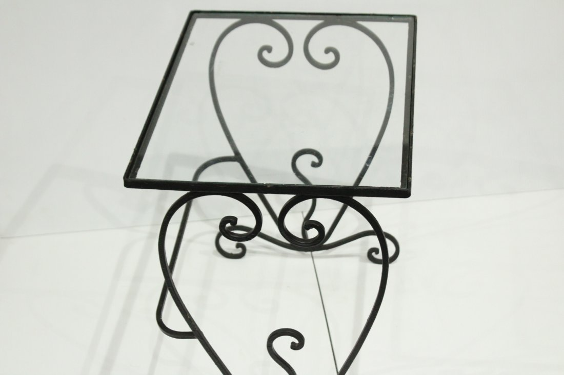 Wrought iron graduated nesting tables - 6