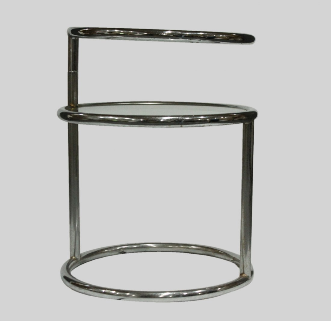 Mid-century Modern tubular chrome side table